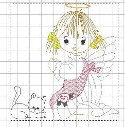 Matrizes grátis Anjinha  com gato