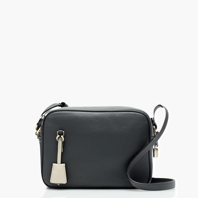 J Crew Signet Bag In Italian Leather