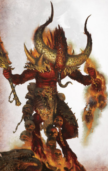Warhammer age of sigmar epic khorne daemon herald artwork battle ilustration fantasy 1
