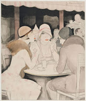 Jeanne Mammen - Im Café Kranzler - Berlin 1929
