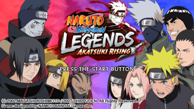Download Naruto Shippuden Legends Akatsuki Rising ISO/CSO Save Data PPSSPP High Compress