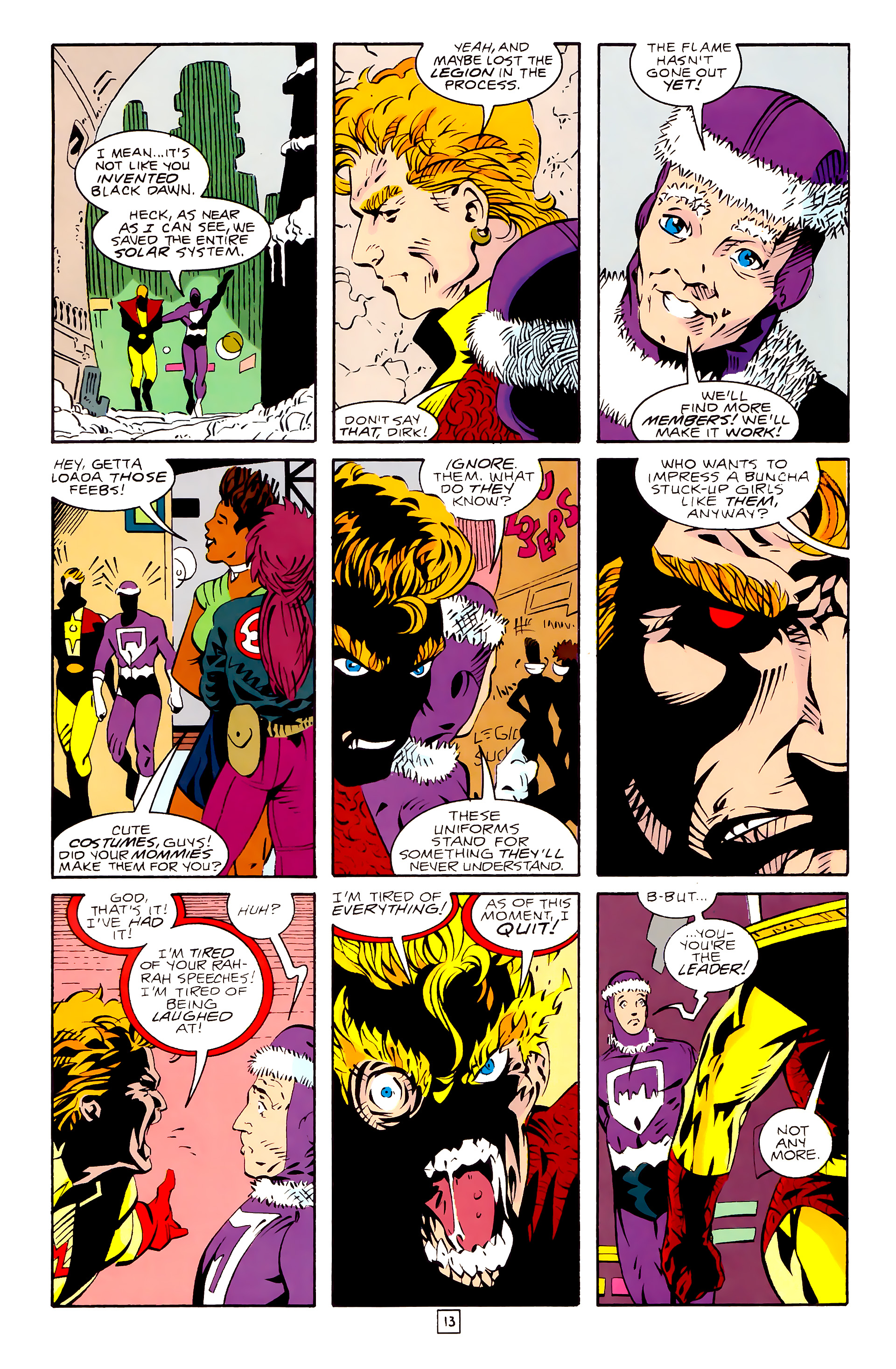 Legion of Super-Heroes (1989) 28 Page 13