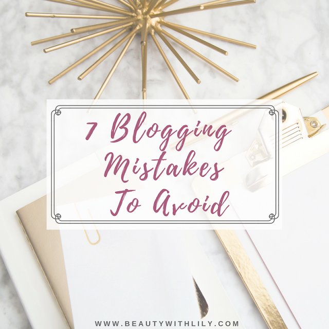 7 Common Blogging Mistakes To Avoid