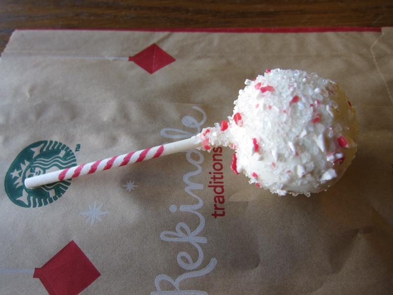 Starbucks Peppermint Brownie Cake Pop Review