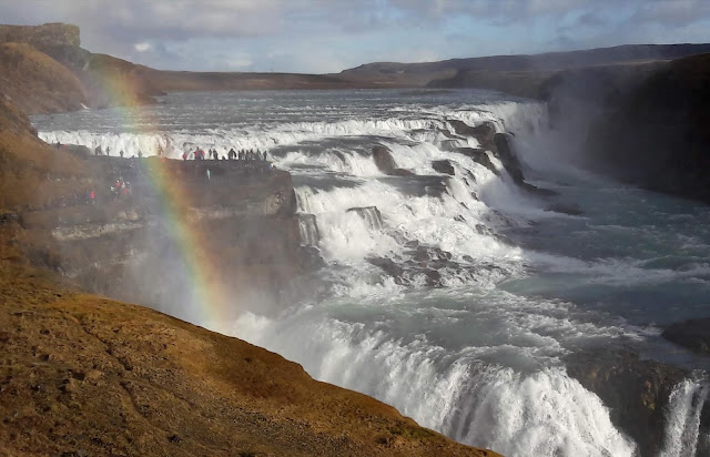 Golden Waterfall Iceland