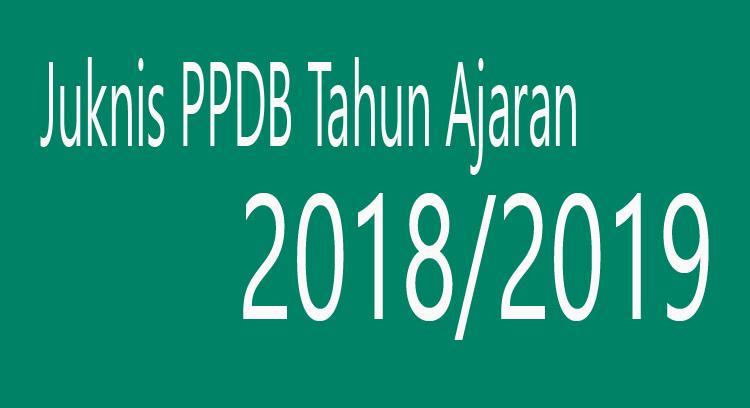 Juknis PPDB Lengkap Tahun Ajaran 2018/2019