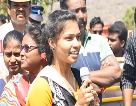 Theni college girl speech against PETA