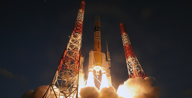 Mitsubishi Heavy Industries, Ltd. and the Japan Aerospace Exploration Agency (JAXA) successfully launched the H-IIA Launch Vehicle No. 30 (H-IIA F30) with the X-ray Astronomy Satellite (ASTRO-H) onboard at 5:45 p.m. on February 17, 2016 (Japan Standard Time, JST) from the Tanegashima Space Center. Credit: JAXA