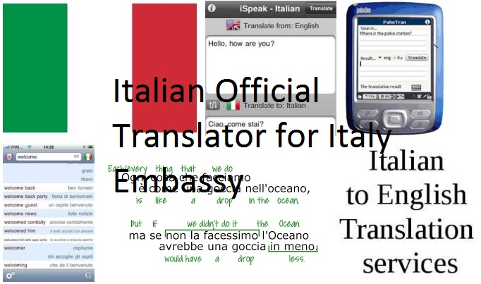 Translator Italian: Italian Official Translator For Italy Embassy Degree