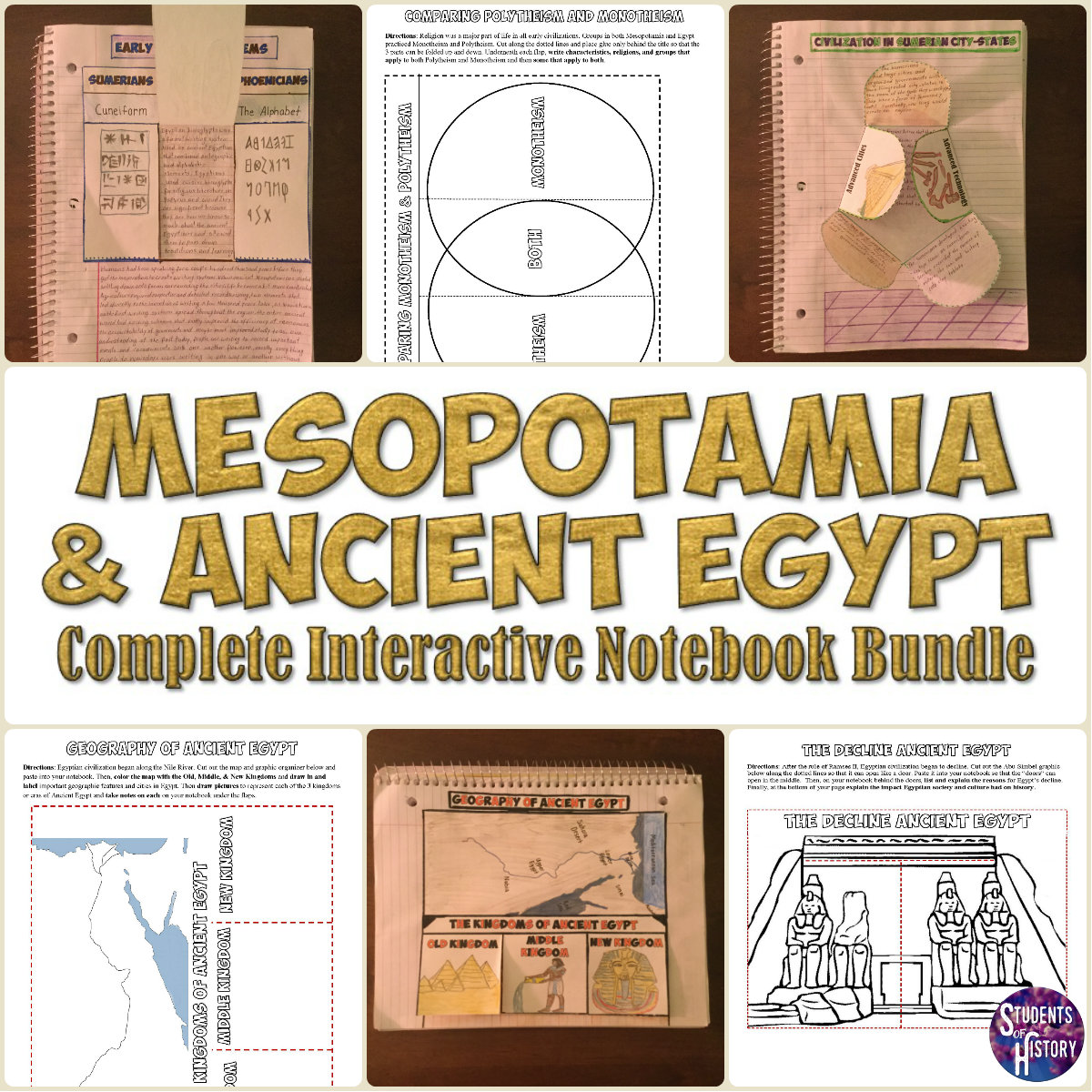 Students Of History Mesopotamia And Ancient Egypt Interactive Notebook