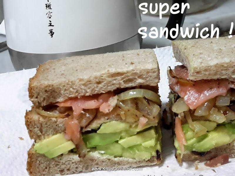 Super Sandwich DIY recipe 煙三文牛油果三文治 自焙食譜