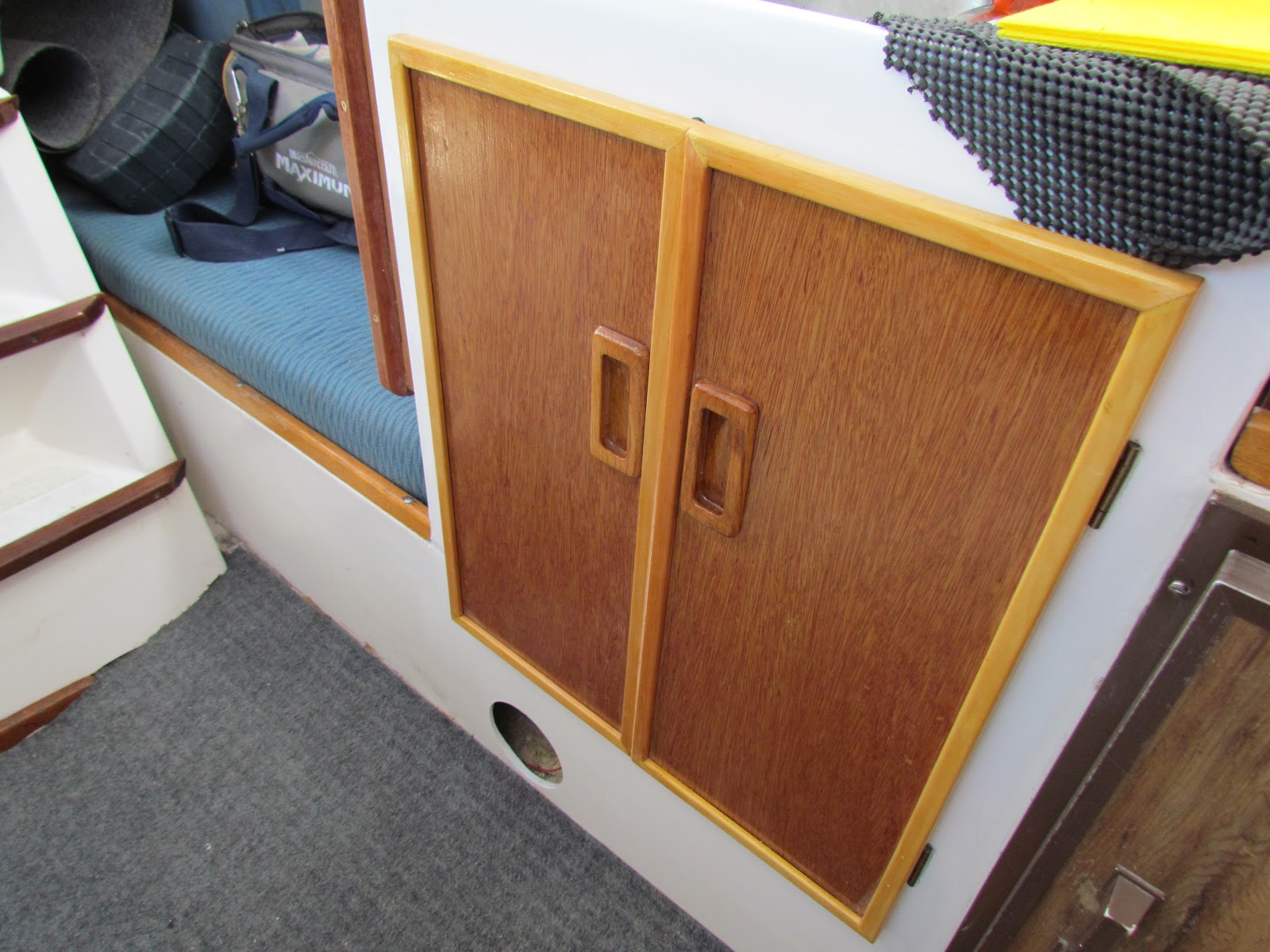 Kitchen Cabinet Doors Hull Small Boat Projects Making Life Aboard Easier Spiffing