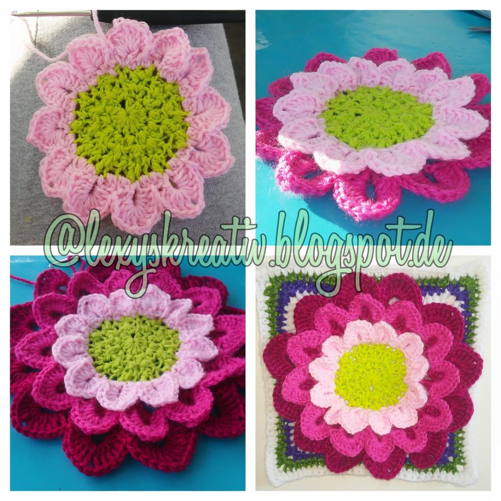 275 Tage Grannys 68 Tag Granny Square Mega Flower 18 X 18 Cm