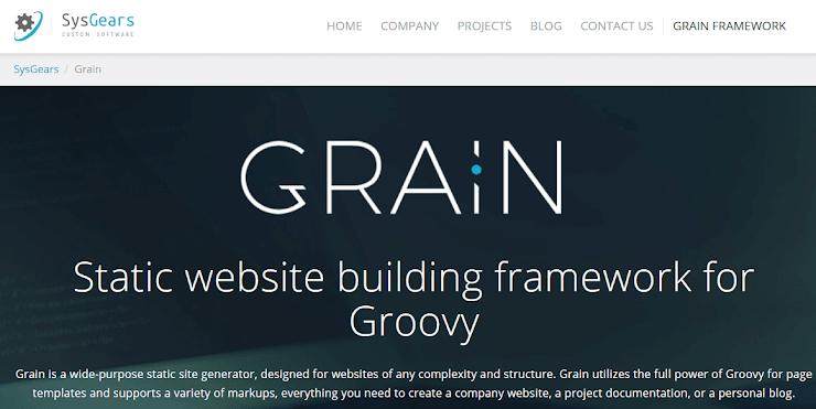 Grain framework for static sites