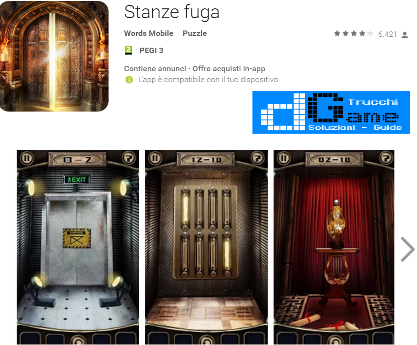 Soluzioni Stanze Fuga (Escape the Doors) livello 31 32 33 34 35 36 37 38 39 40 | Trucchi e  Walkthrough level