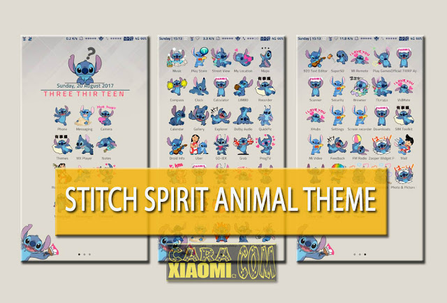 Theme MIUI Stitch The Spirit Animal Mtz Untuk Xiaomi