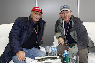 Formula One driver Niki Lauda & Director Ron Howard