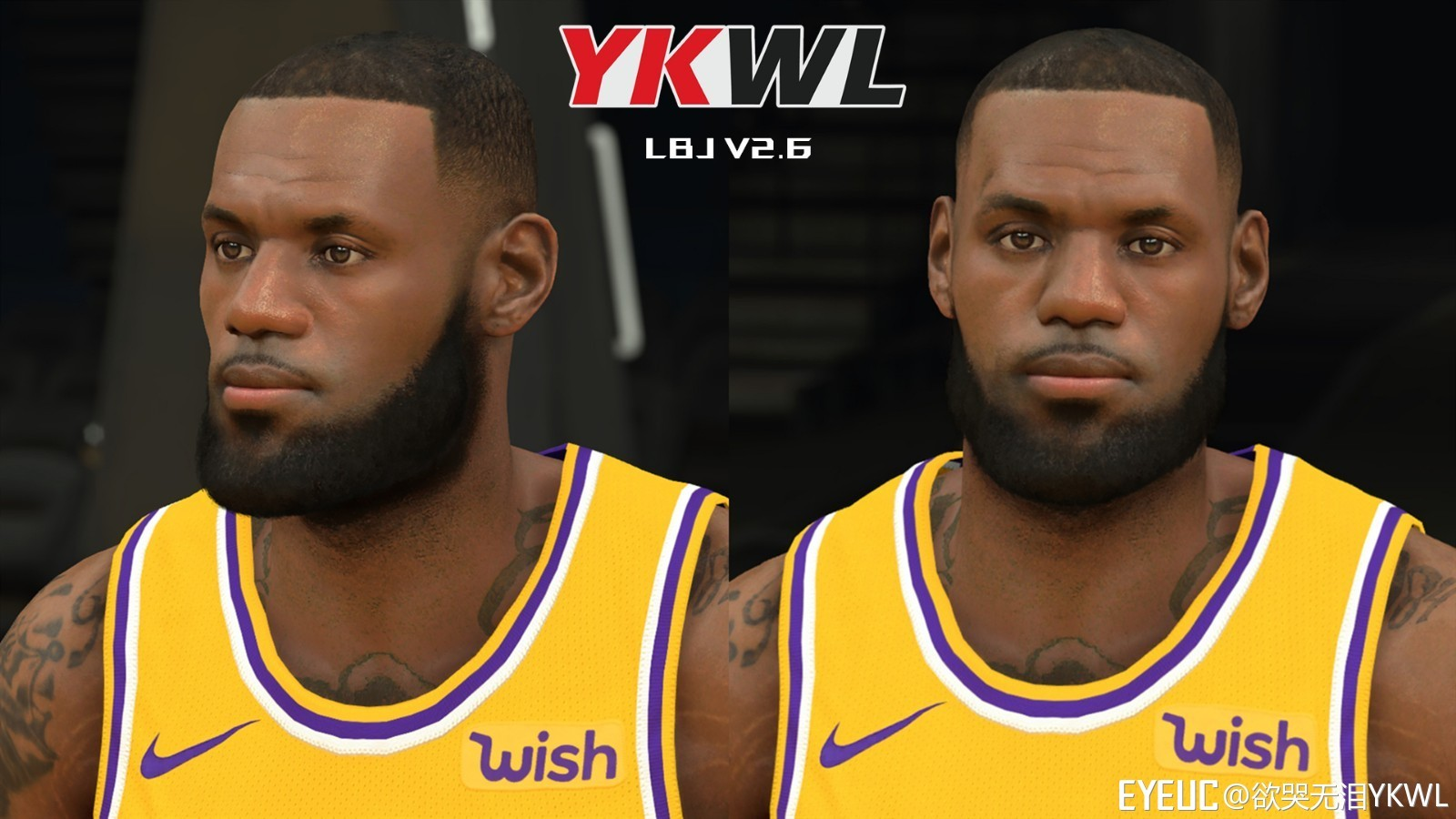 7ddd3aff9cbb NBA 2K19 - LeBron James Cyberface v2.6 by YKWL - Shuajota