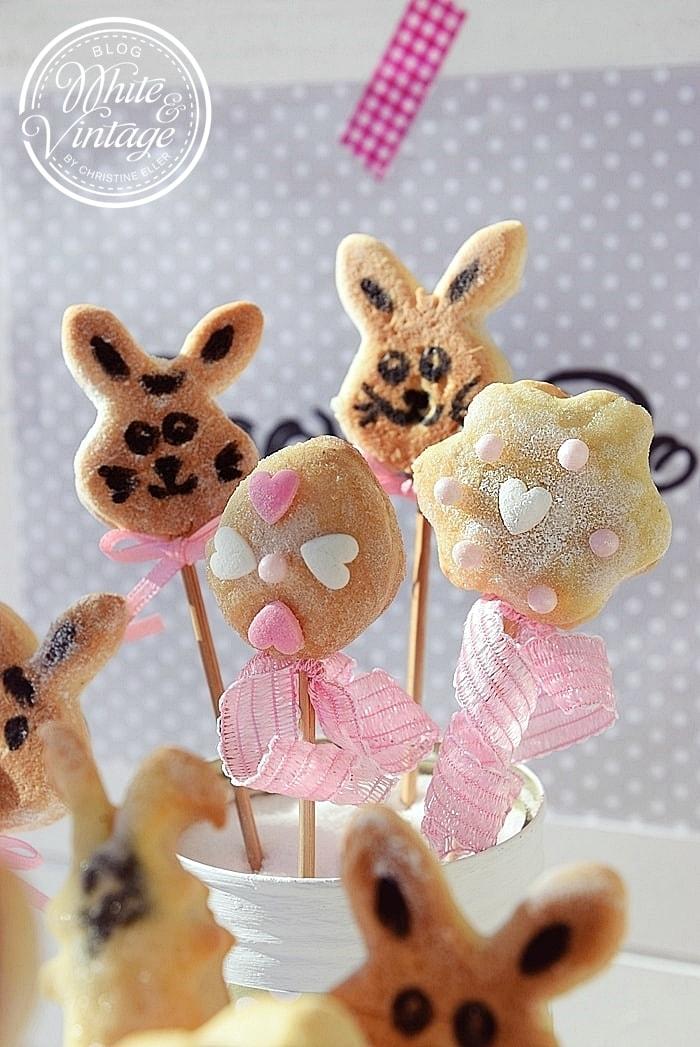 Osterhasen Cookie Pops selber machen