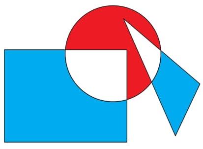 Na figura temos um retângulo com área igual a 120 cm², um círculo com área igual