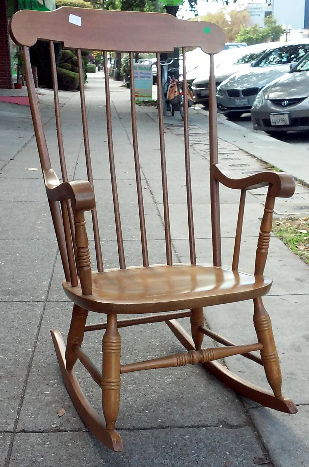 Rocking Chair Clearance Antique White Dining Uhuru Furniture And Collectibles Sold 8087