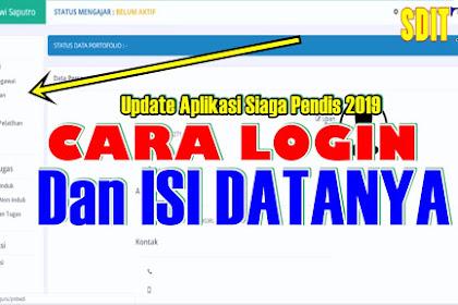 PANDUAN APLIKASI SIAGA PENDIS UPDATE APLIKASI  GURU PAI 2019 LENGKAP