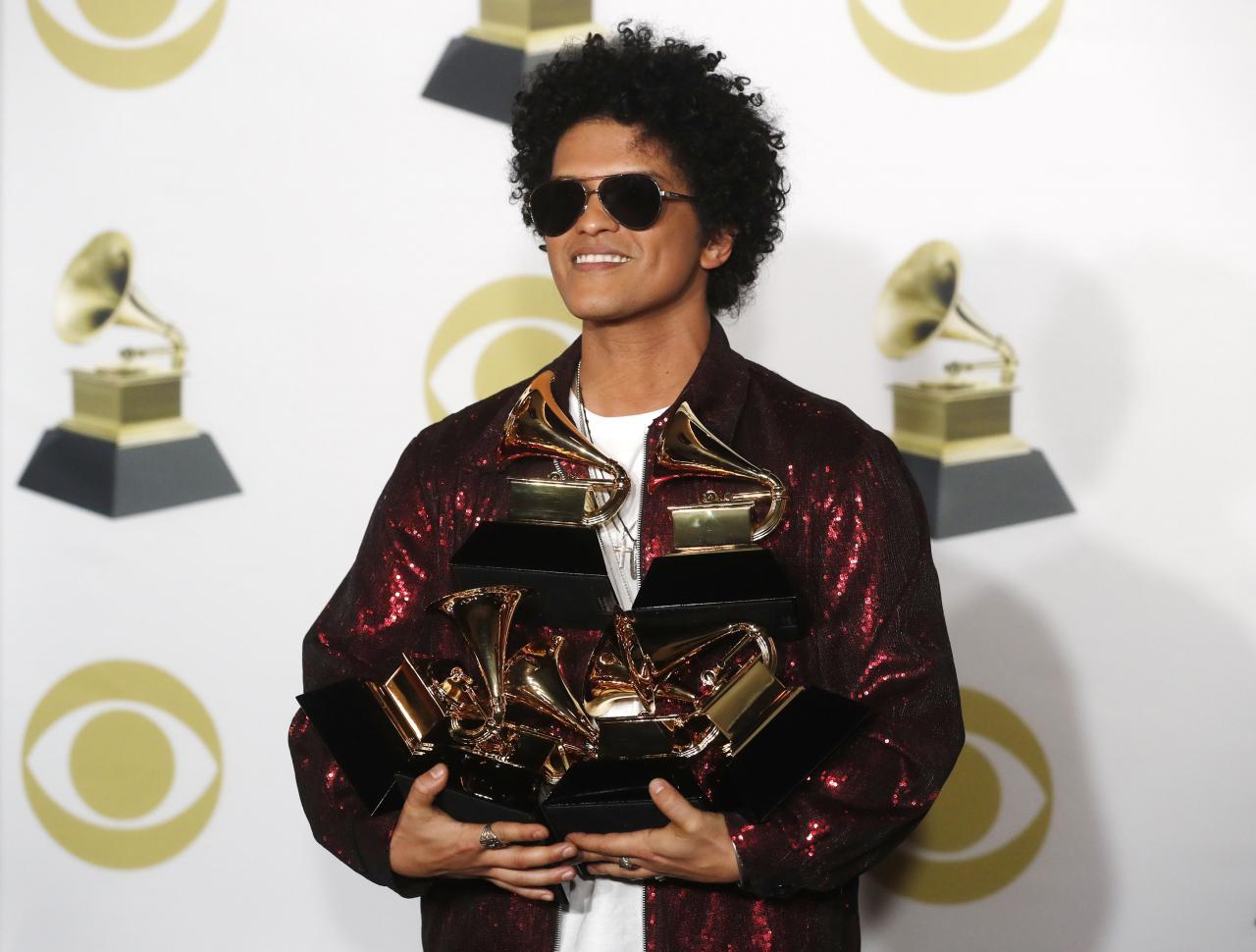 برونو مارس هيمن على جوائز الغرامي Grammy Award