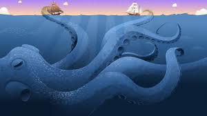 Pintura del Kraken
