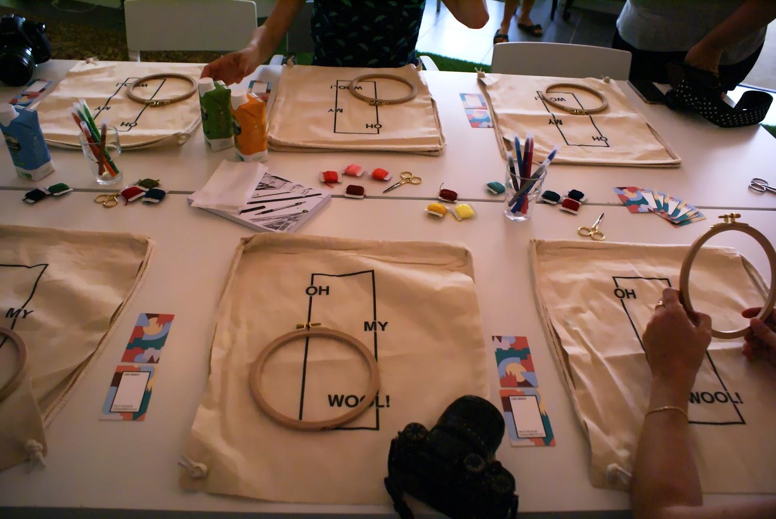 oh my wool lyon atelier broderie diy synbud blogtrip