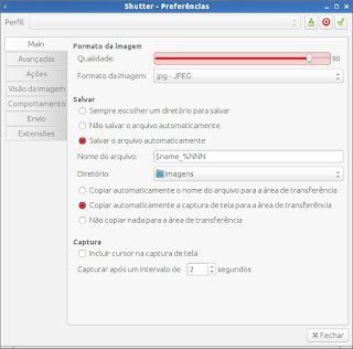 Shutter capture sua tela no ubuntu
