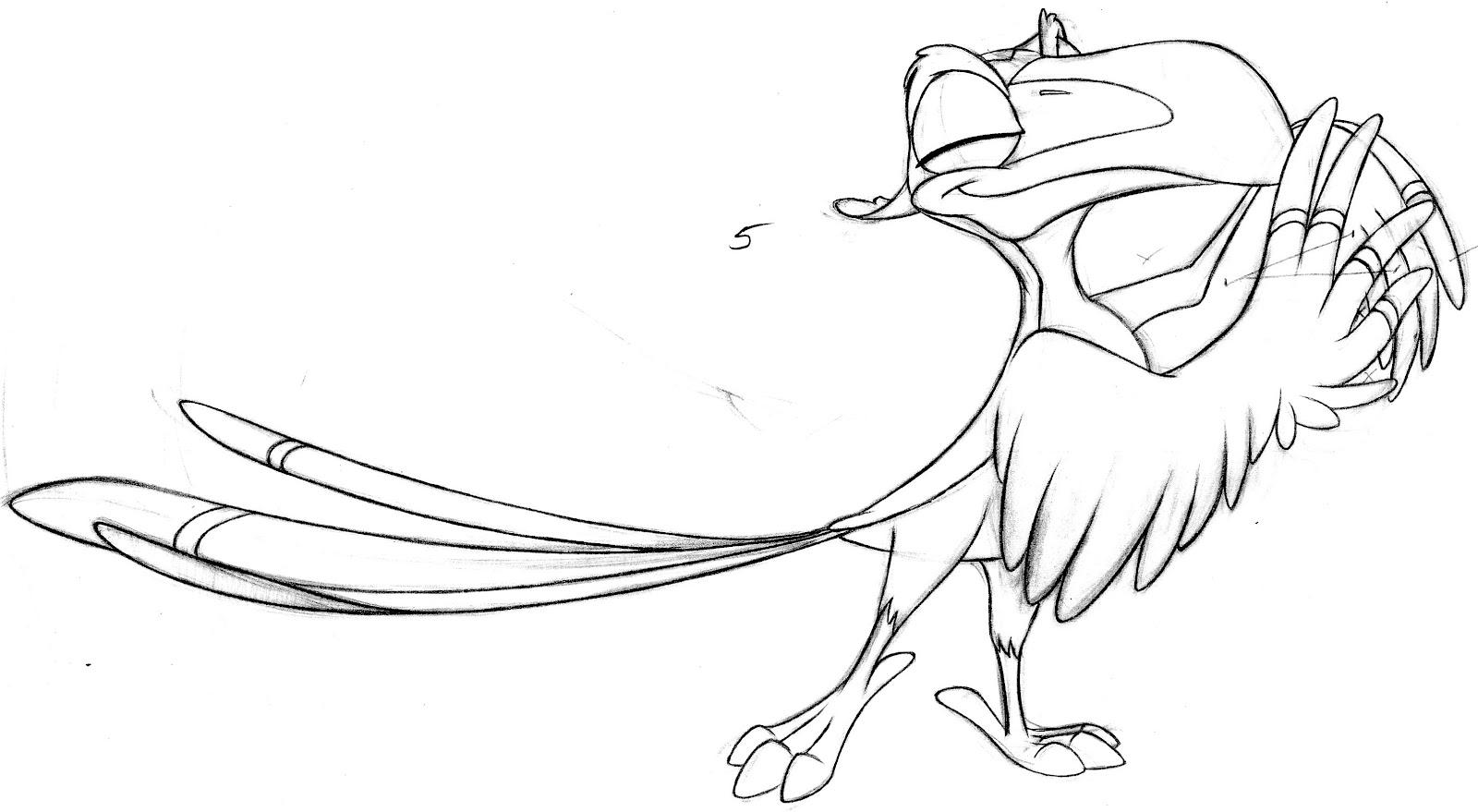 Lion King Zazu Coloring Pages