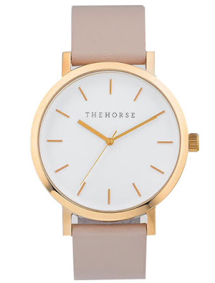 The Horse The Original Polished Rose Gold and Blush Leather Watch