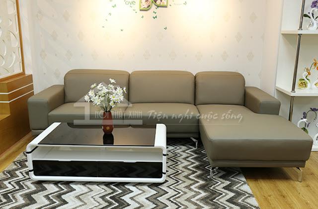 Ghế sofa da đơn giản sang trọng
