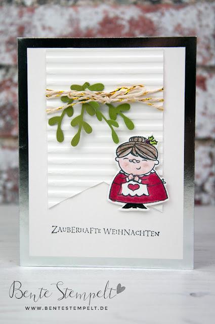 Stampin Up Bente Stempelt Weihnachten christmas Elf Wichtel Weihgnachtswerkstatt Santas Workshop Granny Grnadma Oma Weihnachtsfrau