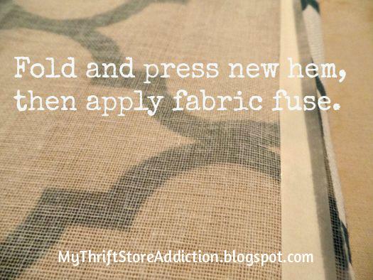 Fabric fuse curtain tutorial