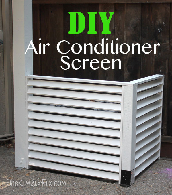 Disguise your AC with a DIY Louvered Screen.. hides your air conditioner and doesn't impede air flow via www.TheKimSixFix.com