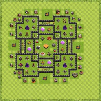 War Base Town Hall Level 9 By Aldypisco (Anparta TH 9 Layout)