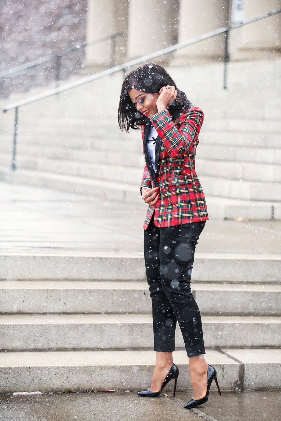 Plaid for holiday, www.jadore-fashion.com