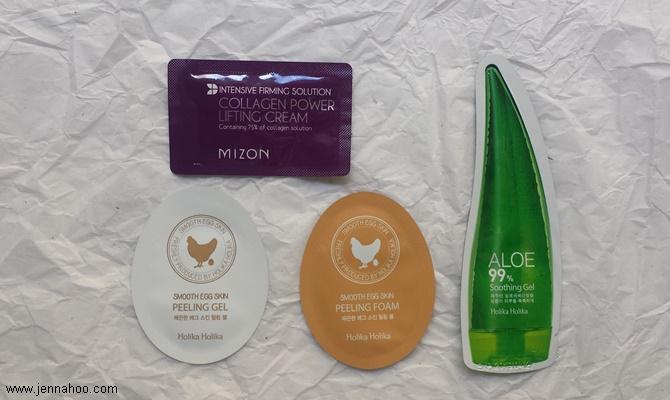 K-Beauty samples, Holika Holika and Mizon