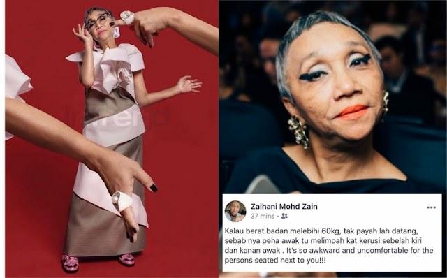 """""""Berat Badan Lebih 60kg, tak payah datang Fashion Show!""""- Pengkritik Fesyen Lanjut Usia"""