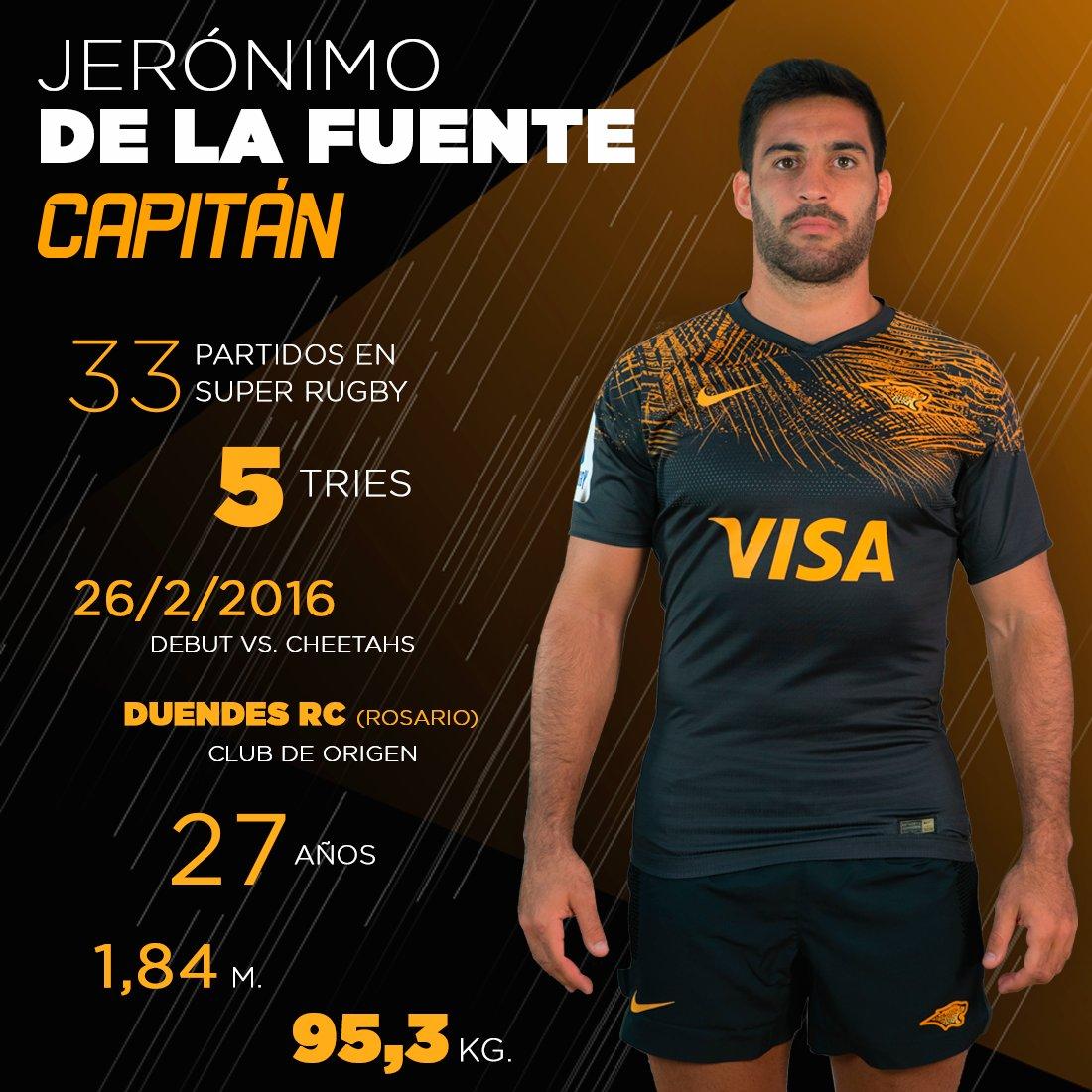 Jerónimo de la Fuente, nuevo capitán de Jaguares