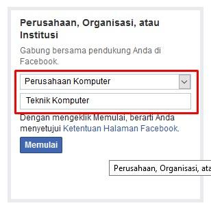 Kategori Halaman Facebook