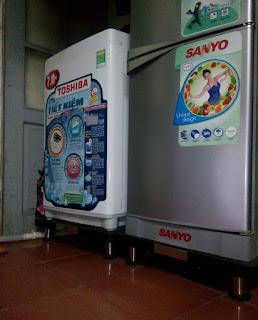 Bán chân đế Inox máy giặt Toshiba tại Hà Nội