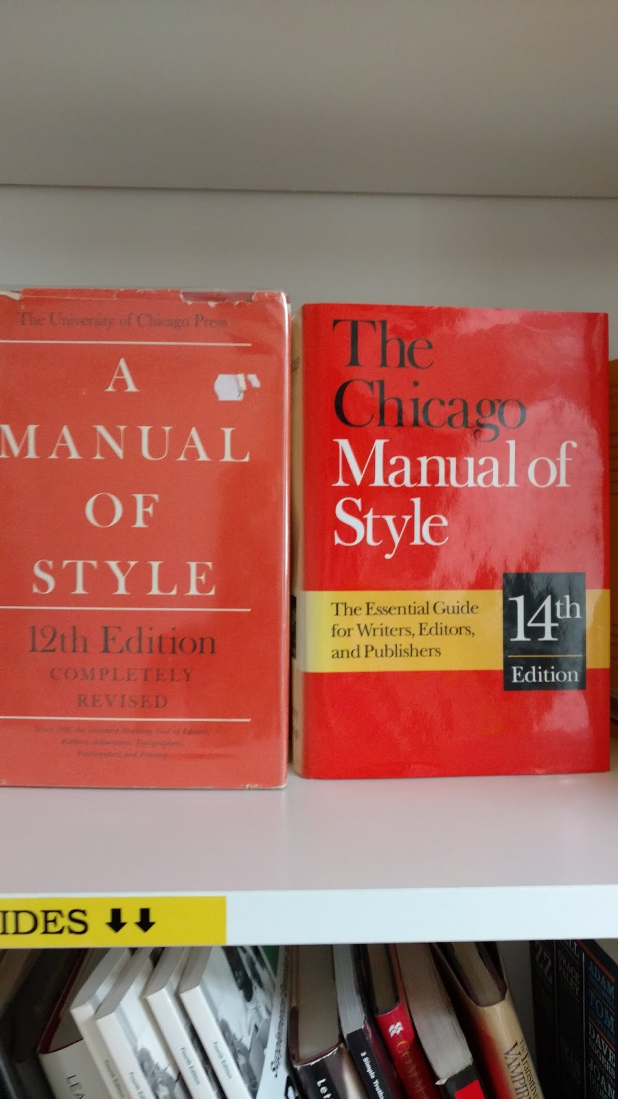 I've never seen them before, but here's actual copies of the Chicago Manual  of Style - both the 12th and 14th Editions.