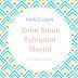 Panduan Solat Sunat Tahiyatul Masjid