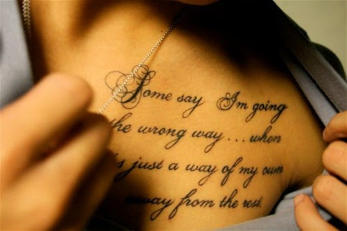 Meaningful Tattoo Quotes: Girls Fashion Trends And Ideas: Best Meaningful Tattoos