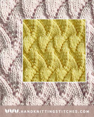 Hand Knitting Stitches - Flame Chevron Lace Pattern