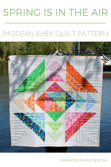 Modern Baby Quilt Pattern | Best of 2017 | Most Popular Blog Posts of 2017 | Shannon Fraser Designs | Modern Quilting | Quilting Tips | DIY |