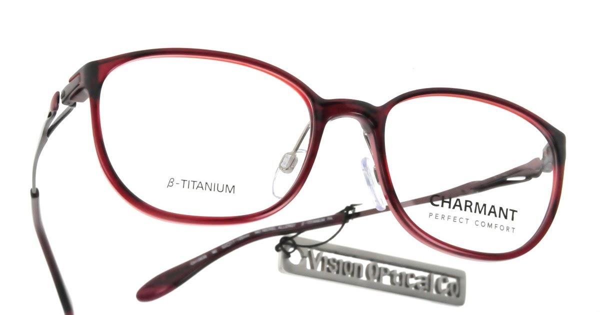 精明眼鏡公司: CHARMANT Perfect Comfort CH10638 輕纖鈦金屬眼鏡