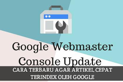 Search Console Update: Begini Cara Terbaru Agar Artikel Cepat Terindex